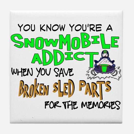 Sled Parts Memories Tile Coaster