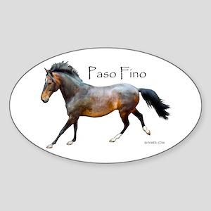 Paso Fino Oval Sticker