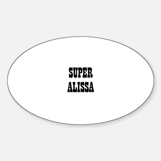 Super Alissa Oval Decal