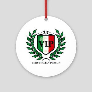 VIP Italian Ornament (Round)