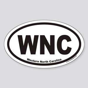 Western North Carolina WNC Euro Oval Sticker