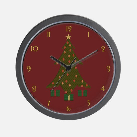 Quilted Christmas Wall Clock