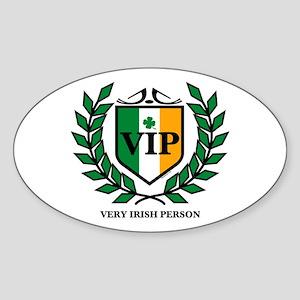 VIP Irish Oval Sticker