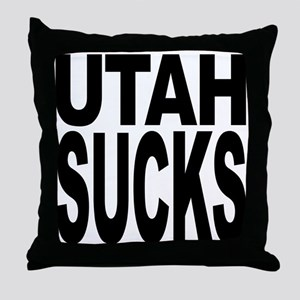 Utah Sucks Throw Pillow