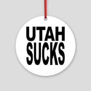 Utah Sucks Ornament (Round)
