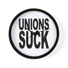 Unions Suck Wall Clock