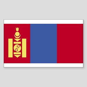 Mongolia Rectangle Sticker