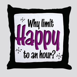 Limit Happy Hour? Throw Pillow