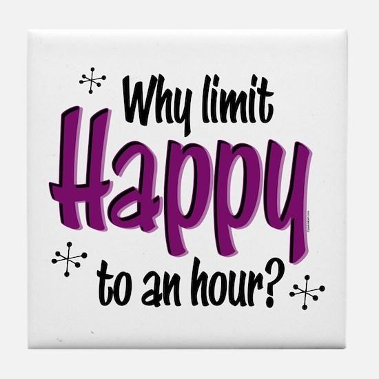 Limit Happy Hour? Tile Coaster