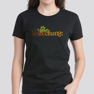 Be the change - Earthy - Floral Women's Dark T-Shi