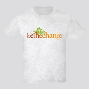 Be the change - Earthy - Floral Kids Light T-Shirt