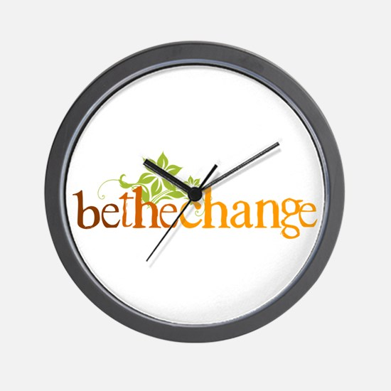 Be the change - Earthy - Floral Wall Clock