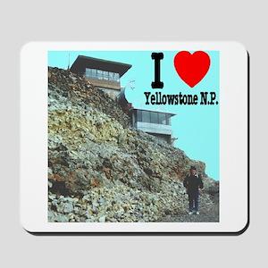 I (Heart) Yellowstone N.P. Mt. Washburn Mousepad