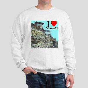 I (Heart) Yellowstone N.P. Mt. Washburn Sweatshirt
