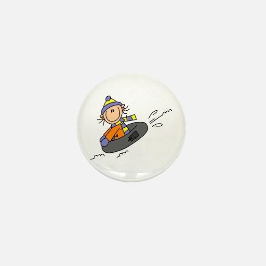 Snow Tubing Mini Button (10 pack)