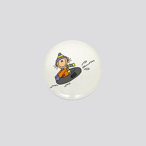 Snow Tubing Mini Button