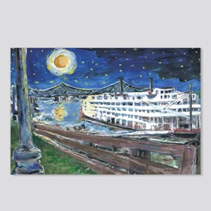 Starry Night Riverboat Postcards (Package of 8)