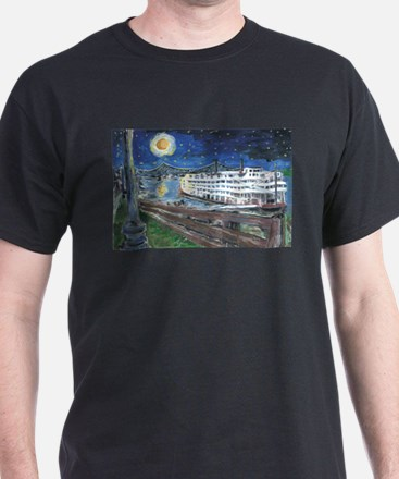 Starry Night Riverboat T-Shirt