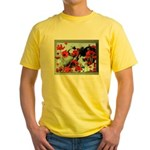 Audrey in Poppies Yellow T-Shirt