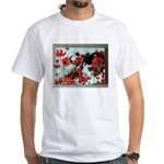 Audrey in Poppies White T-Shirt