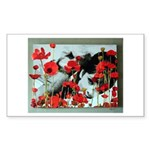 Audrey in Poppies Sticker (Rectangle)
