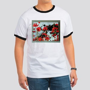 Audrey in Poppies Ringer T