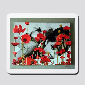 Audrey in Poppies Mousepad