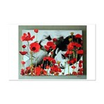 Audrey in Poppies Mini Poster Print