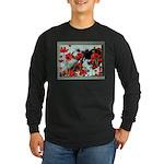Audrey in Poppies Long Sleeve Dark T-Shirt