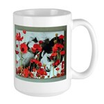 Audrey in Poppies Large Mug