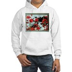 Audrey in Poppies Hooded Sweatshirt
