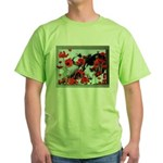Audrey in Poppies Green T-Shirt