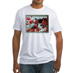 Audrey in Poppies Fitted T-Shirt