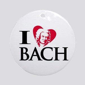 I Love Bach Ornament (Round)