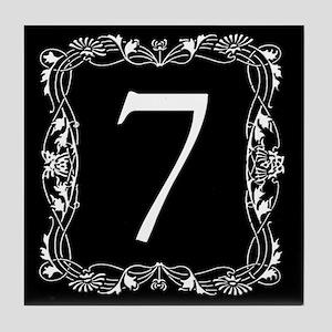 Black and White Art Nouveau House Tile Number 7