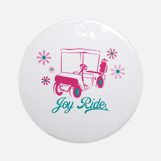 Ladies Golf Joy Ride Ornament (Round)