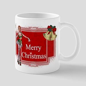 Merry Christmas Elf with Bell Mug