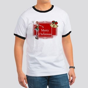 Merry Christmas Elf with Bell Ringer T