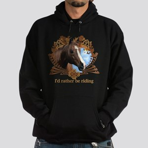 I'd Rather Be Riding Hoodie (dark)