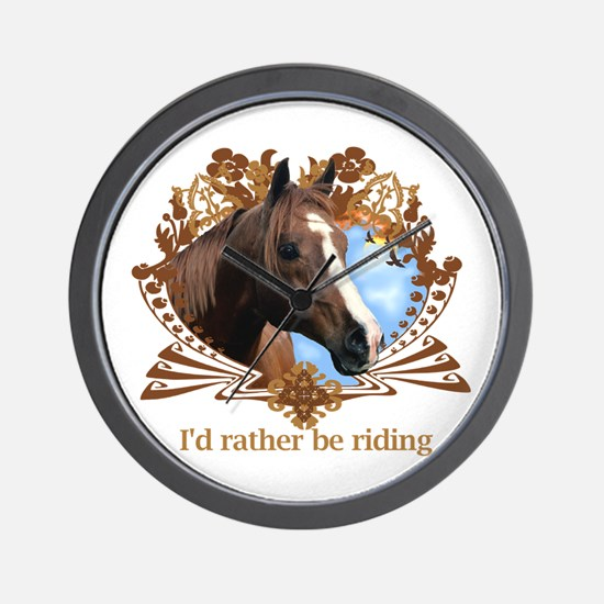 I'd Rather Be Riding Wall Clock
