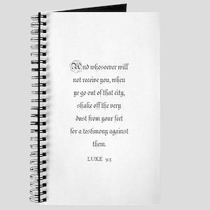 LUKE 9:5 Journal