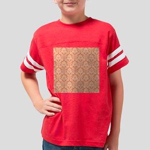 Orange Damask pattern Youth Football Shirt