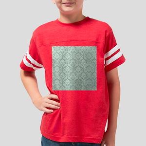 Jade green damask pattern Youth Football Shirt