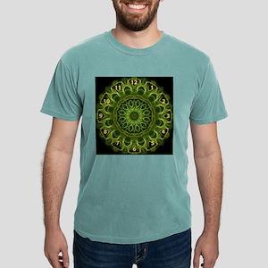 Green Flower kaleidoscop Mens Comfort Colors Shirt