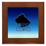 Blue Cane Corso Framed Tile