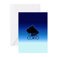 Blue Cane Corso Greeting Cards (Pk of 10)