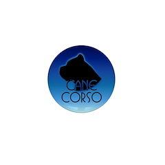 Blue Cane Corso Mini Button