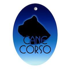 Blue Cane Corso Oval Ornament