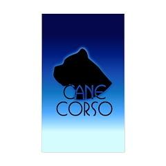 Blue Cane Corso Rectangle Decal