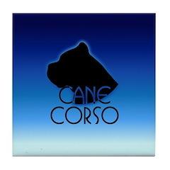 Blue Cane Corso Tile Coaster